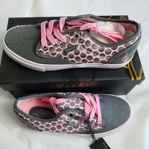 Baby Phat Polka-Dot Porter Chambray Girls Shoes